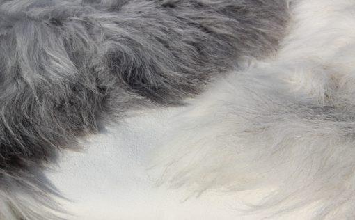 grote schapenvacht offwhite grijs-