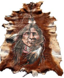geitenhuid-hand beschilderd indiaan