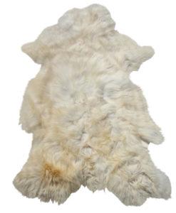 schapenvacht met zachte wol-wit met geelbruin