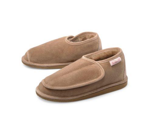 donja-hd-schapenvacht-pantoffel-klittenband