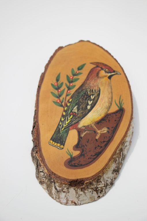 hout-schildering-vogel-