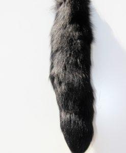 vossenstaart-sleutelhanger-zwart-