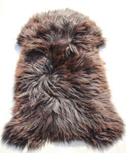 schapenvacht-heideschaap-xl-h40 zwart/bruin/wit