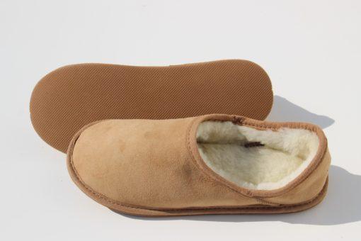 pantoffels van schapenvacht laag model