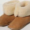 pantoffels-schapenvacht met omslagrand-hoog en laag te dragen