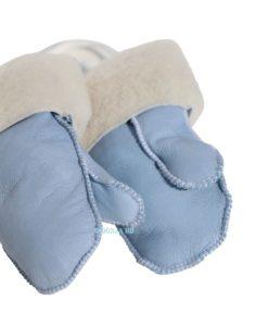 baby wanten lamsvacht blauw