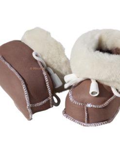 baby slofjes van zacht schapenvacht , zoollengte 10cm