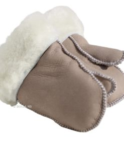 baby wanten lamsvacht taupe