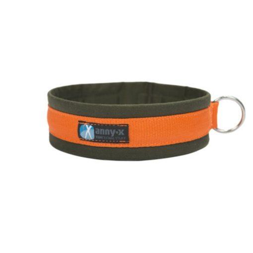 anny-x-halsband-klik-sluiting-groen-oranje