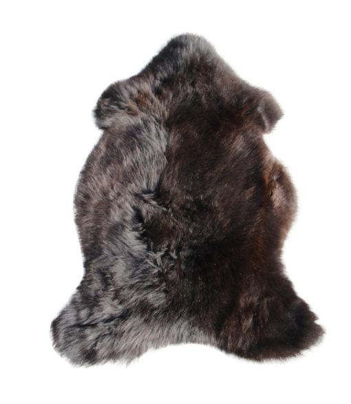 zachte schapenvacht-zwart