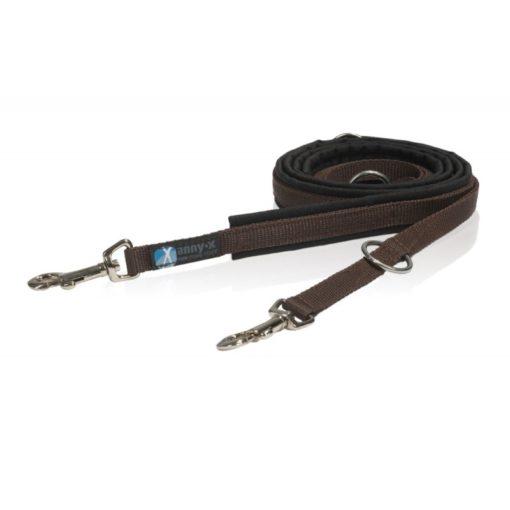 annyx-hondenriem- zwart bruin