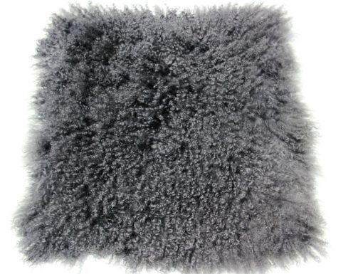 tibet-schapenvacht-kussen-hoes-45-45 cm-charcoal-