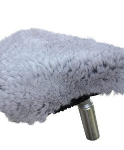 fietszadel dekje-schapenvacht-grijs-