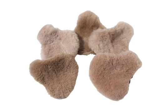fietszadel dekje-schapenvacht-taupebruin