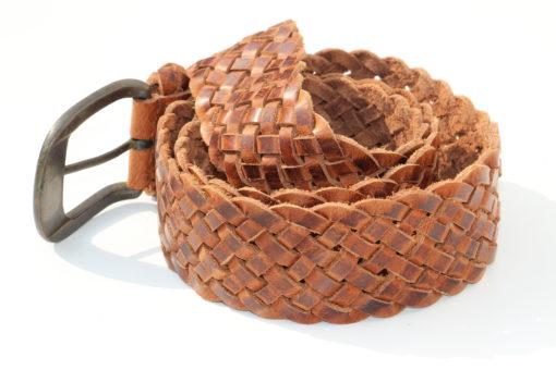 gevlochten-leder-riem-cognac-bruin (3)