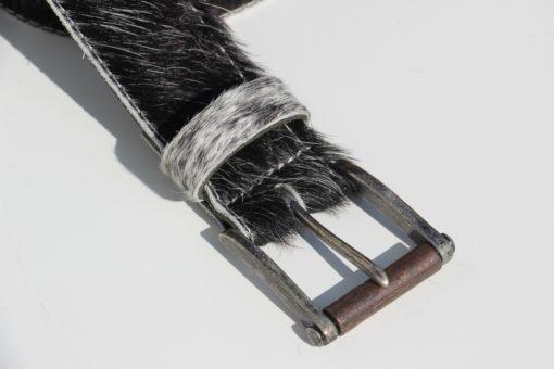 koehuid-riem-ceintuur-zwart-wit