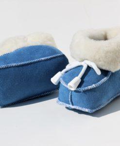 baby-slofjes-schapenvacht-blauw