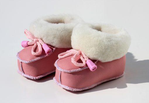 baby-slofjes-schapenvacht-rose